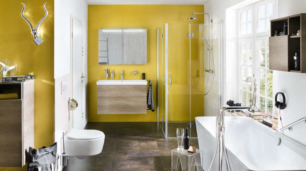 talis-cromaselect_glamorous-yellow-bathroom-ambiance_16x9